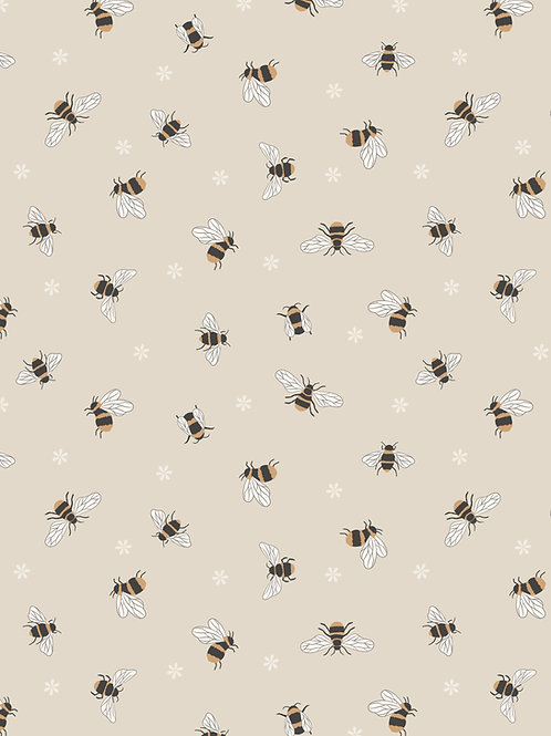 Bees on Dark Cream (A503.1)