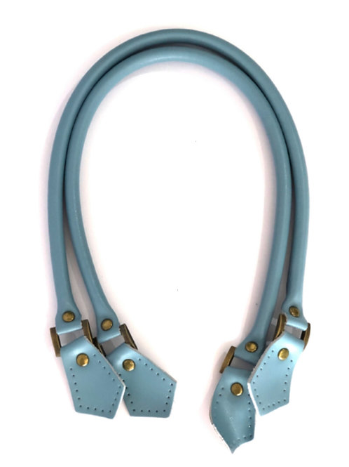 Leather Handles - Light Blue