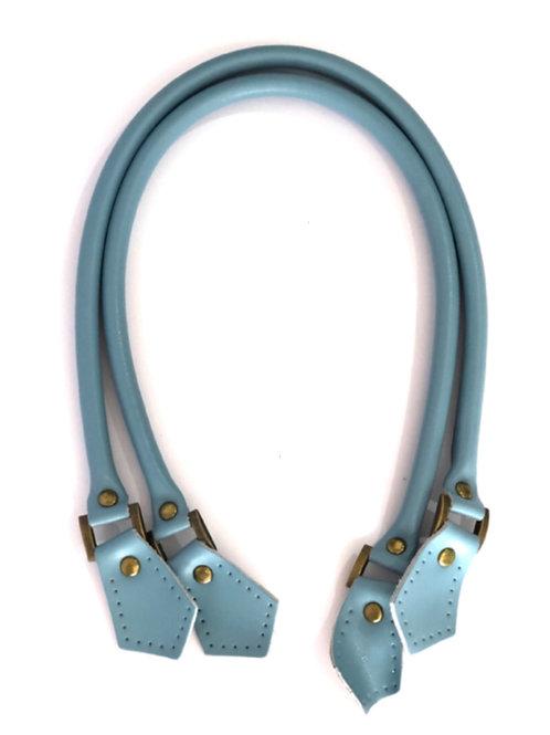 Leather Handles - Light Blue