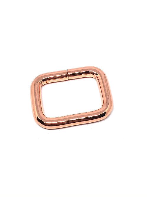 """Rose Gold Rectangle Ring 26mm (1 1/16"""") x 19mm (3/4"""")"""")"""