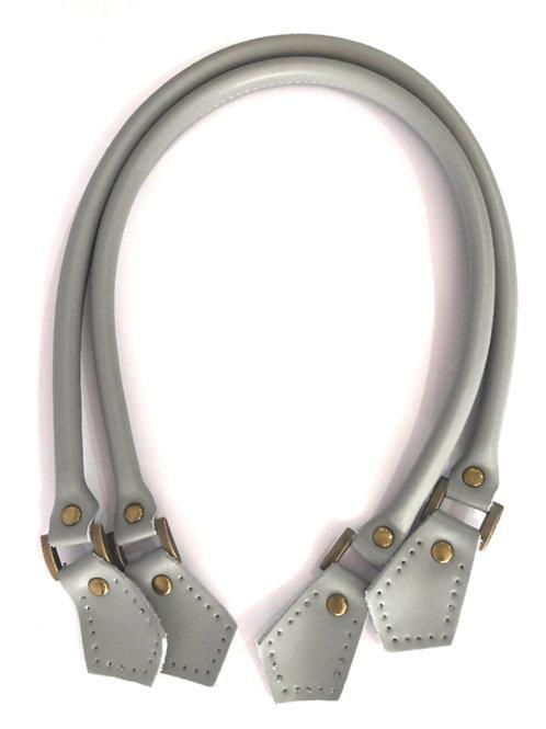 Leather Handles - Light Grey