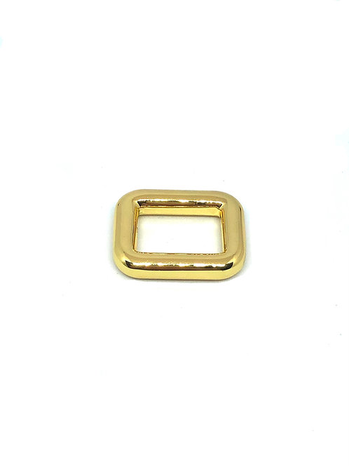 """Gold Rectangle Ring 15mm (5/8"""") x 11mm (3/8"""")"""