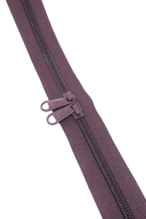 YKK Zipper Tape - Plum 254