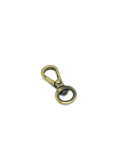 Antique Brass Mini Swivel Hook - Teardrop
