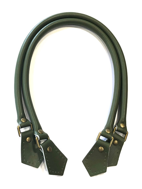 Leather Handles - Military Green
