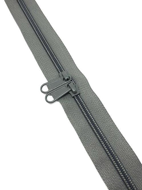 YKK Zipper Tape - Mid Grey 392