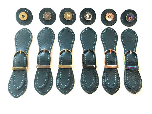 Leather Buckle - Teal