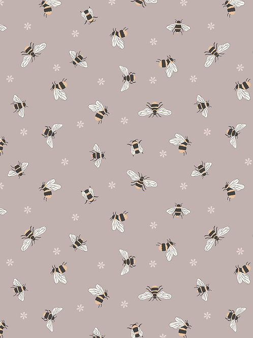 Bees on Warm Beige (A503.2)