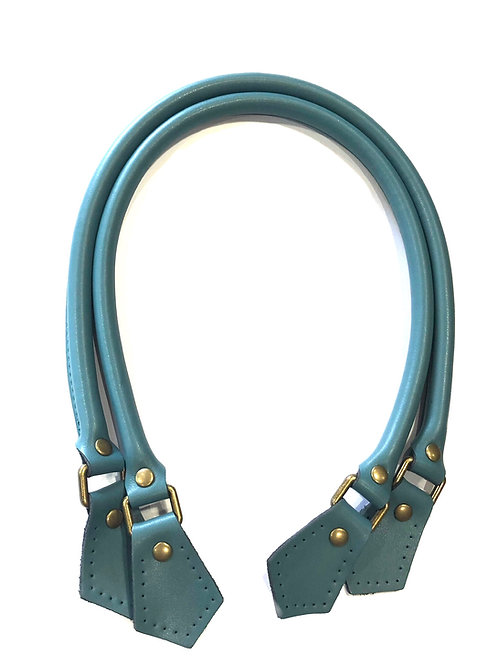 Leather Handles - Air Force Blue