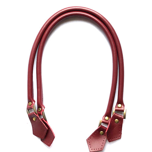 Leather Handles - Wine Red