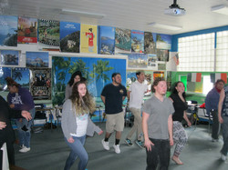Students participating in activity