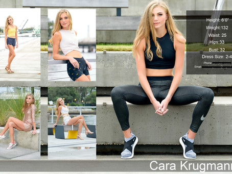 Cara's Model Comp Card Session