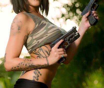 Guns & Glamour Photoshoot