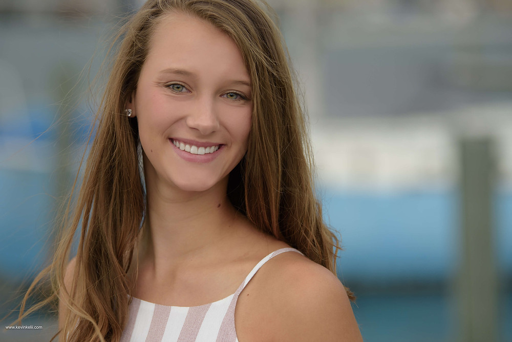 Kennedy's senior portraits at Clearwater Beach 1