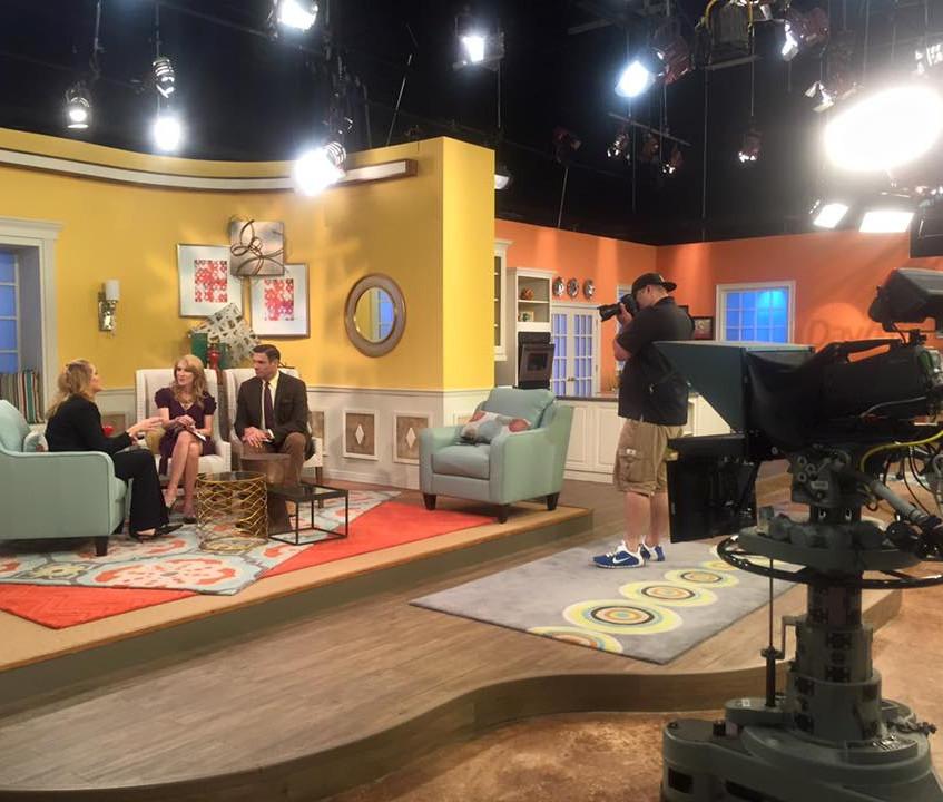In the studio at NBC