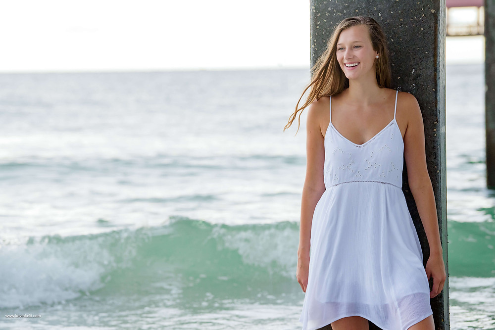 Kennedy's senior portraits at Clearwater Beach 8