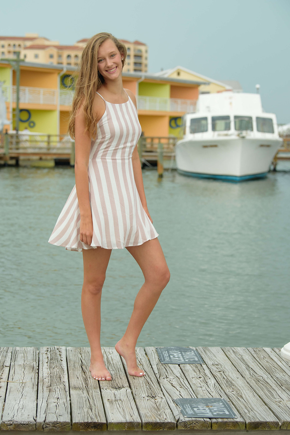 Kennedy's senior portraits at Clearwater Beach 2