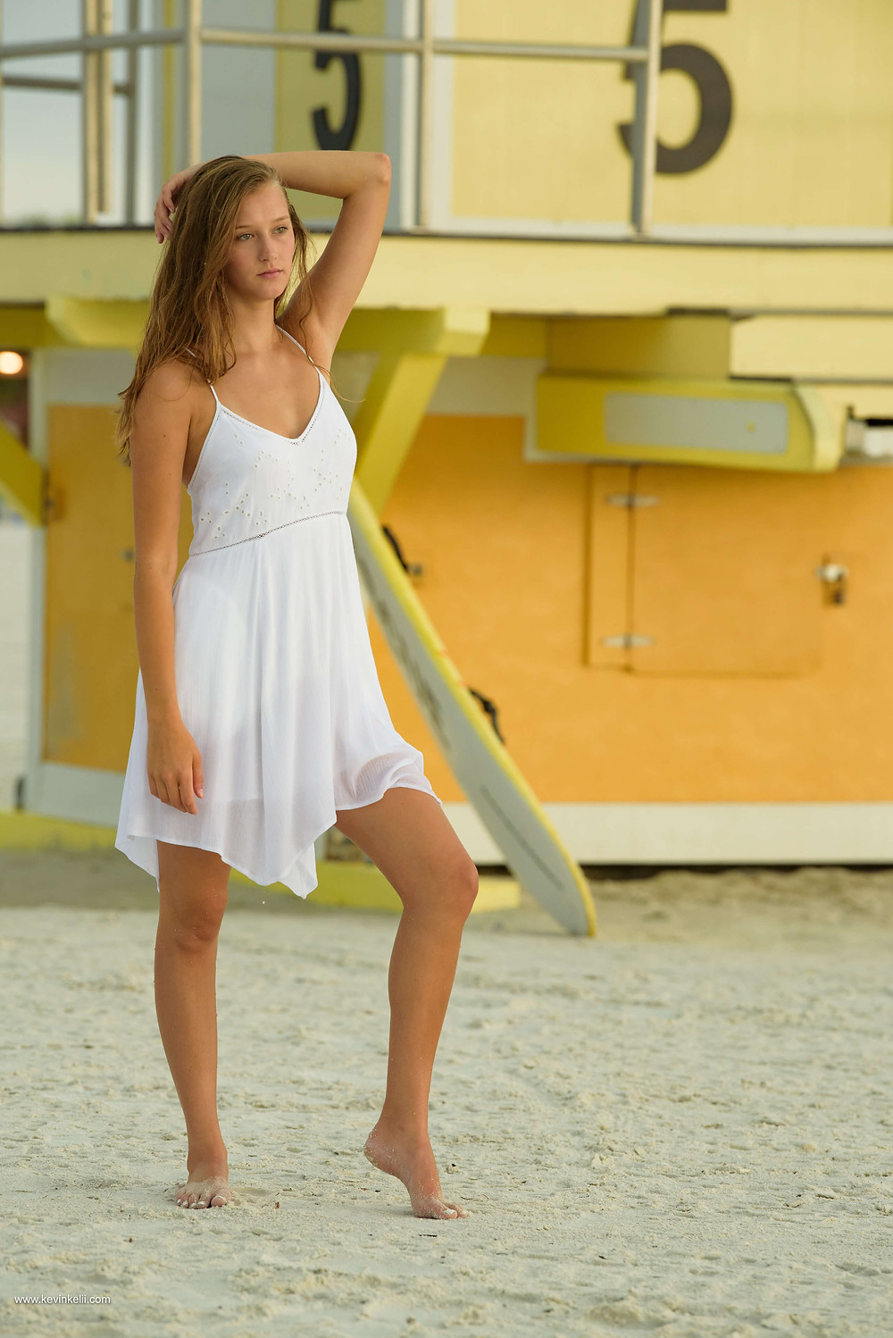 Kennedy's senior portraits at Clearwater Beach 6