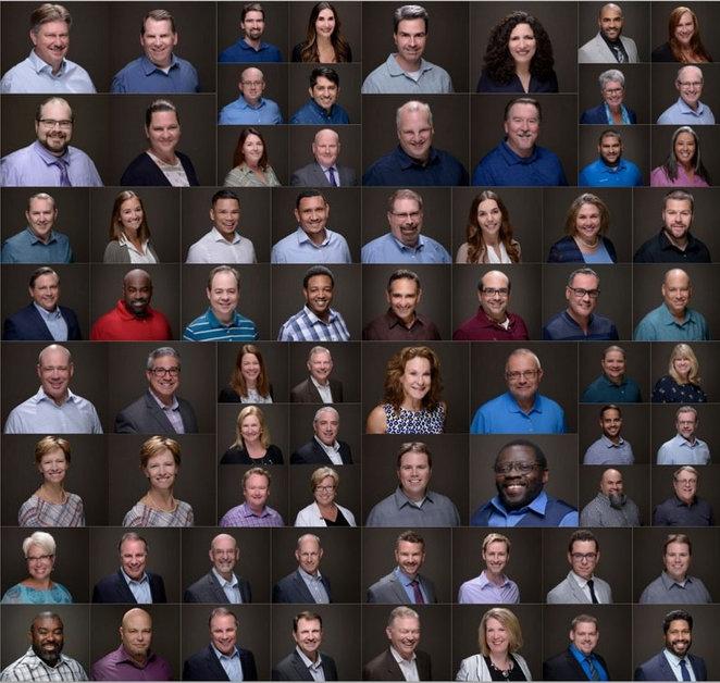 Multiple Group Headshots Studio