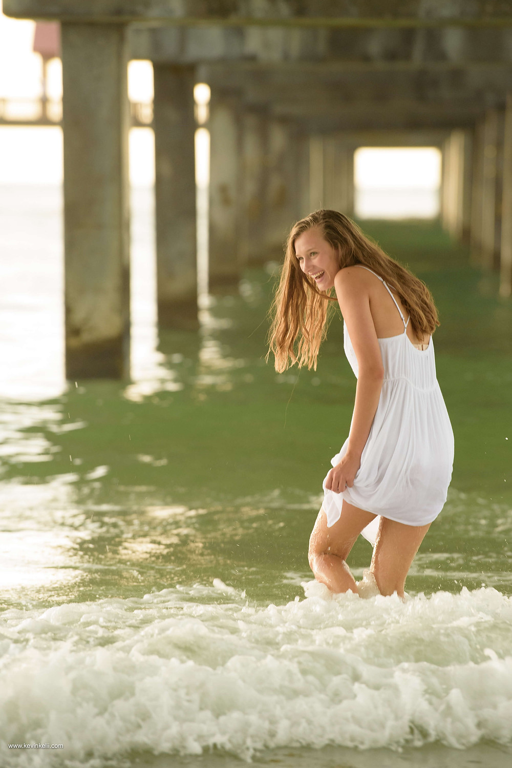 Kennedy's senior portraits at Clearwater Beach 5