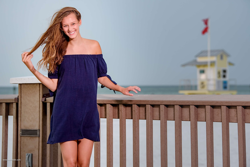 Kennedy's senior portraits at Clearwater Beach 7