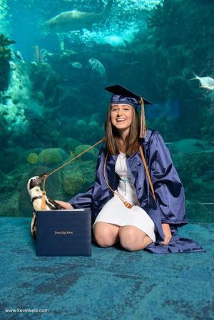 Senior Portraits At The Aquarium