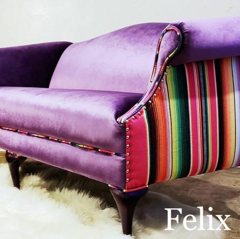 Purple serape couch