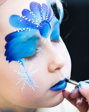 Blue Face Paint