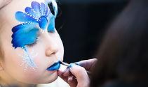 Pintura de cara azul