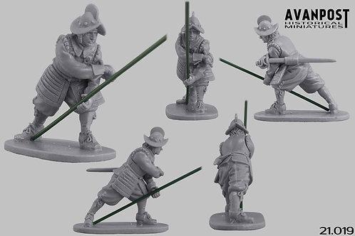 21.019 Pikeman in Combat 1st Rank