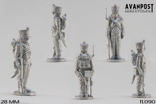 11.090-M Light Infantry Private in Campaign Dress Standing