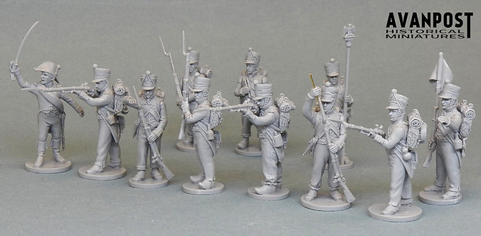 Avanpost Napoleonic French in Campaign Dress Set (Resin)