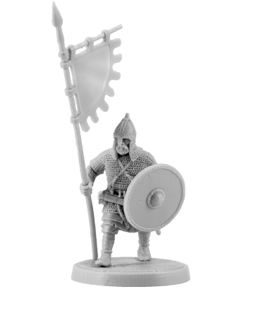 Slavic Warrior with Banner