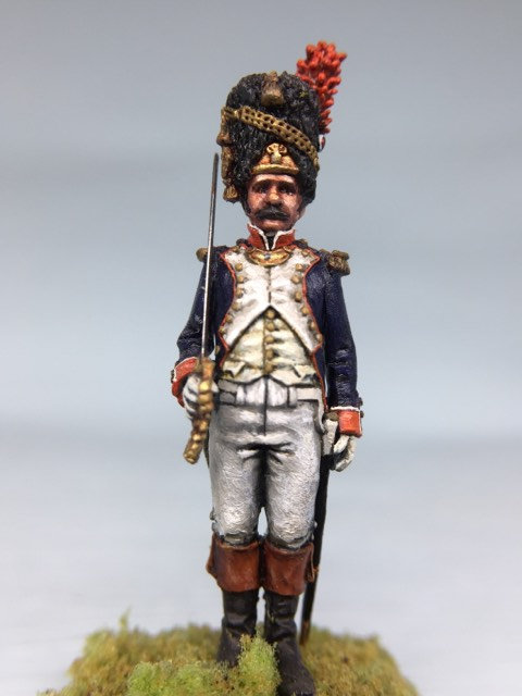 11.021-M Grenadier Company Officer Standing in Bearskin