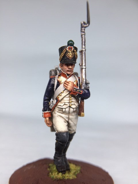 11.014-M Line Infantry Fusilier Marching in Shako