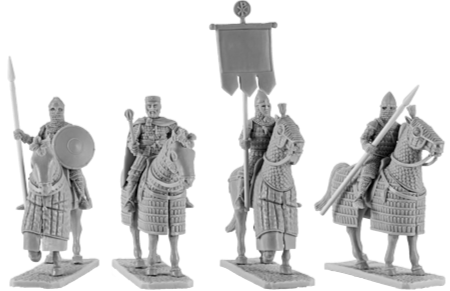 Byzantine Emperor, Generals and Banner Bearer