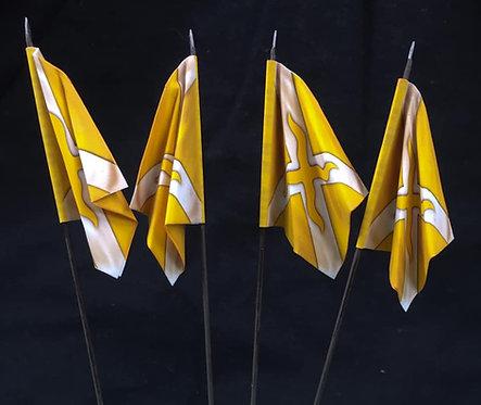 Thirty Years War - Swedish Yellow Regiment Flag 1