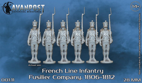 001 French Line Infantry Fusilier Company 1806-1812