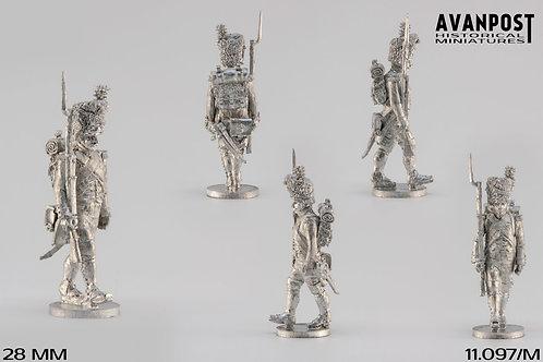 11.097-M Line Infantry Grenadier Sergeant in Bearskin Marching