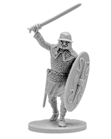 Gallic Warrior with Sword wearing Mail
