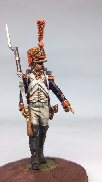 11.050-M Line Infantry Grenadier Sergeant Marching in Shako
