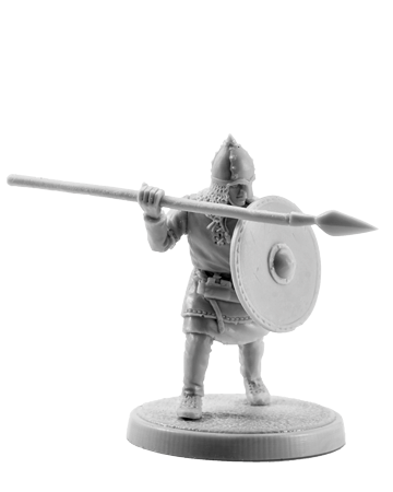 Slavic Warrior with Spear #1