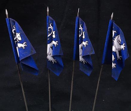 Thirty Years War - Swedish Blue Regiment Flag 1