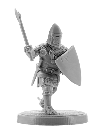 Hundred Years War English Knight with Axe