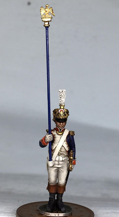 11.066-M Eagle Bearer Officer Standing in Shako