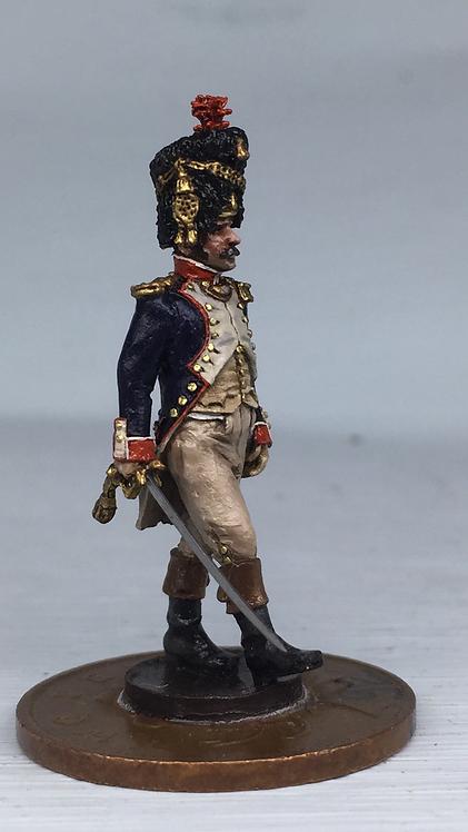 11.092-M Grenadier Company Officer in Bearskin Marching