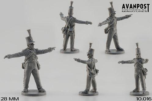 10.016 Artillery NCO commanding the gun movement