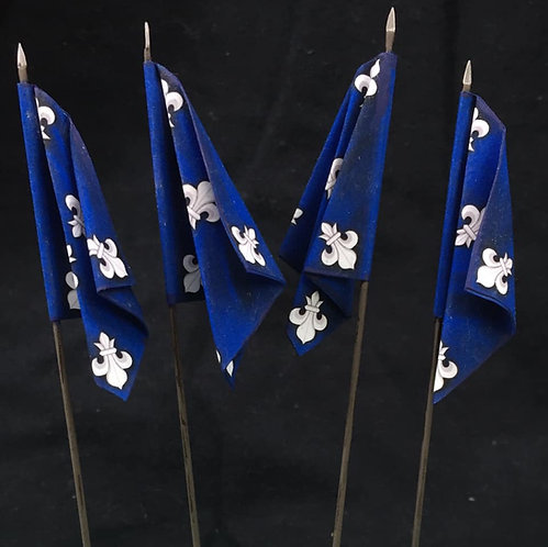 Thirty Years War - Swedish Blue Regiment Flag 2