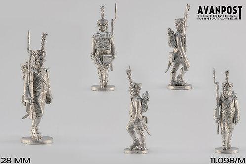 11.098-M Line Infantry Voltigeur Sergerant in Shako Marching