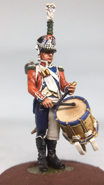 11.082-M Light Infantry Drummer in Shako Standing